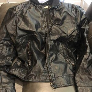 Young boys leather H&M biker jacket
